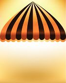 stock photo of striping  - striped shop awning with space background striped design - JPG