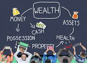 stock photo of possess  - Wealth Money Possession Investment Growth Concept - JPG