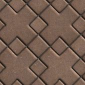 picture of paving  - Brown Paving  Slabs with a Cross in the Center - JPG