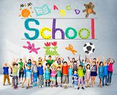 stock photo of handwriting  - Kids Imagination Handwriting School Learning Concept - JPG