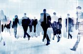 picture of commutator  - Business People Rush Hour Walking Commuting City Concept - JPG
