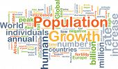 stock photo of billion  - Background concept wordcloud illustration of population growth - JPG