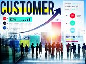 stock photo of loyalty  - Customer Client Consumer Satisfaction Service Loyalty Concept - JPG
