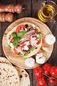image of rocket salad  - Piadina romagnola - JPG