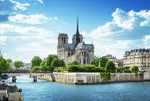 stock photo of notre dame  - Notre Dame de Paris - JPG