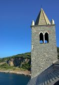 stock photo of saracen  - Church and ocean in Portovenere - JPG