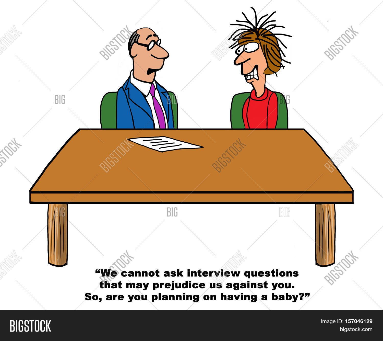 business cartoon about a job recruiter asking illegal questions business cartoon about a job recruiter asking illegal questions during a job interview