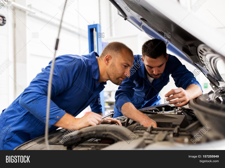 Car People: Auto Service, Repair, Maintenance Image & Photo