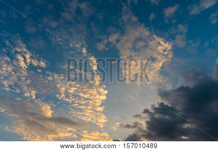 Image Of Cloudy Sunset Sky