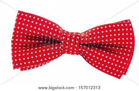 Red With White Polka Dots Bow Tie