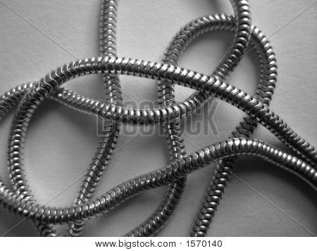 B/W Silver Chain