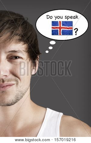 Attractive young student, do you speak Icelandic?