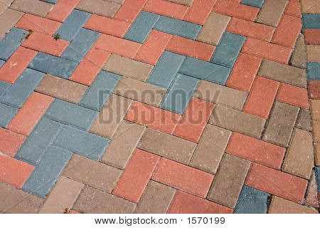 Pavers tijolo diagonal