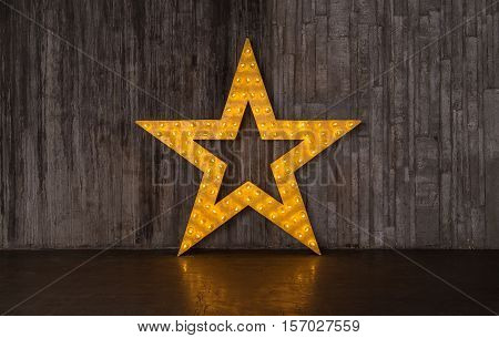 Photo Gold Star With Lights