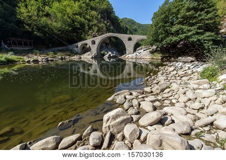 The Devil's Bridge over Arda river and Rhodopes mountain, Kardzhali Region, Bulgaria