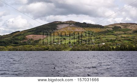 Hills over Lough Derg in Co.Limerick Ireland
