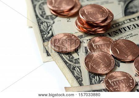 Coins On Us Dollars. Money
