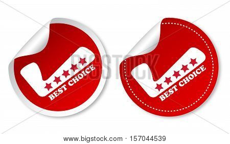 Best choice on red stickers with soft shadow