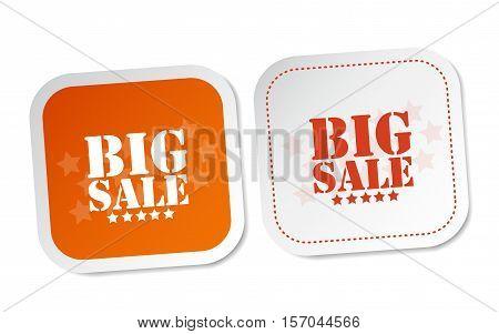 Big sale on white and orange stickers
