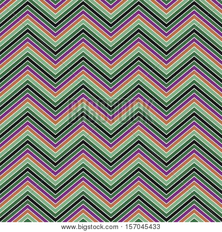 Colorful abstract zig zag stripe pattern background design