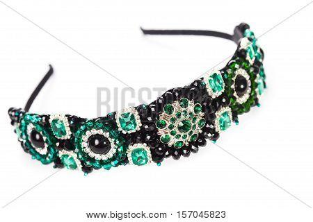 Three jewelry headbands for female hair, handmade