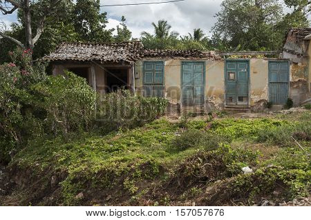 Abandoned and decayed house in Trinidad, Cuba