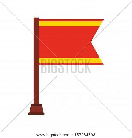 flag championship isolated icon vector illustration design