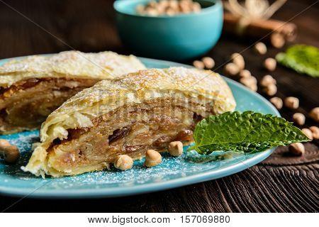 Chickpeas Strudel With, Raisins And Cinnamon
