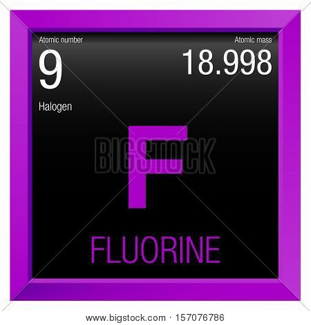 Fluorine symbol element number 9 vector photo bigstock fluorine symbol element number 9 of the periodic table of the elements chemistry urtaz Image collections