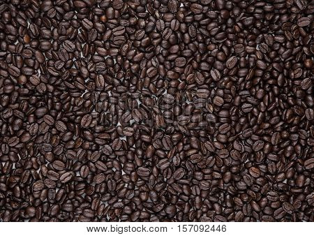 Coffee beans background texture macro brown breakfast