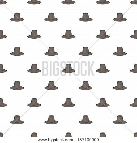 Traditional korean hat pattern. Cartoon illustration of traditional korean hat vector pattern for web