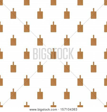 Brown cutting board pattern. Cartoon illustration of brown cutting board vector pattern for web