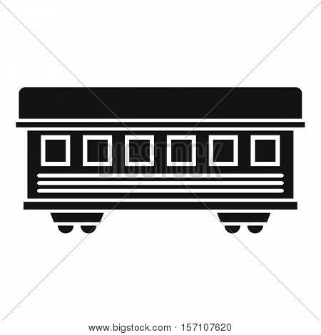 Passenger train car icon. Simple illustration of passenger train car vector icon for web design