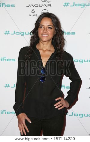 LOS ANGELES - NOV 14:  Michelle Rodriguez at the Unveiling Next Era Jaguar Vehicle at Milk Studios on November 14, 2016 in Los Angeles, CA