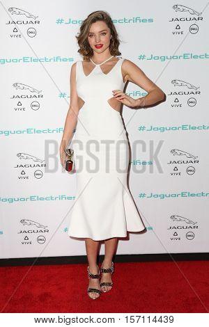 LOS ANGELES - NOV 14:  Miranda Kerr at the Unveiling Next Era Jaguar Vehicle at Milk Studios on November 14, 2016 in Los Angeles, CA