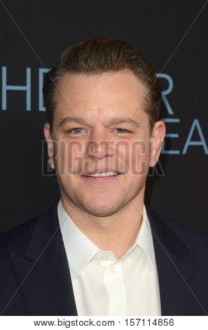 LOS ANGELES - NOV 14:  Matt Damon at the