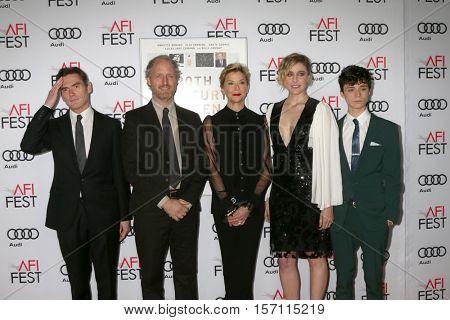 LOS ANGELES - NOV 16:  Billy Crudup, Mike Mills, Annette Bening, Greta Gerwig, Lucas Jade Zumann at the Screening of