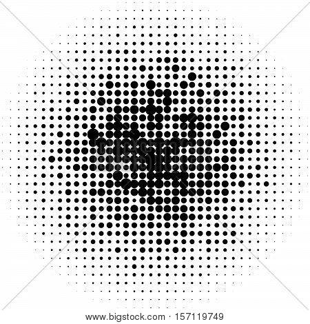 Halftone Circles, Halftone Dots Pattern. Monochrome Half-tone