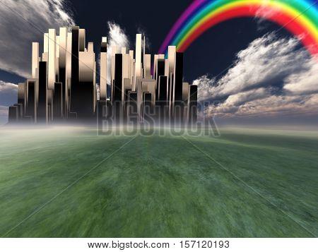 Heavenly City   3D Render