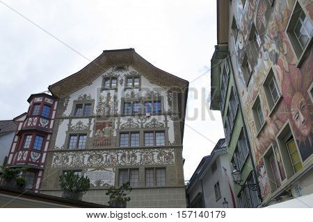 Views of the streets of Lucerne, Switzerland