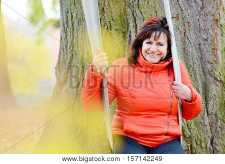 Woman Portrait In Park