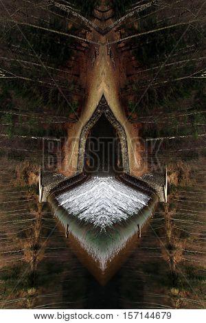 Bizarre forest ship - digitally altered - composite