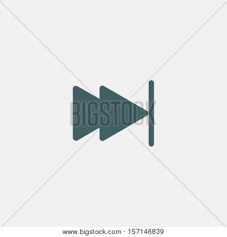 skip forward button icon vector isolated on white background