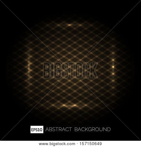 Grill absract Background. Old metal grill on blck backround. Vector illustration
