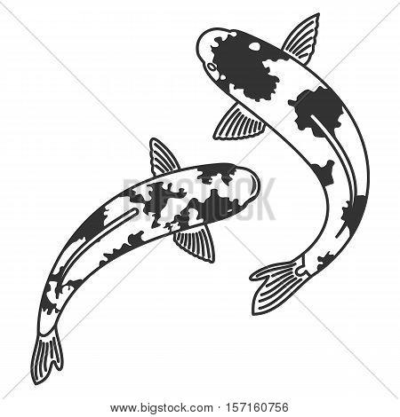 Vector Illustration Japanese Carps