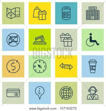 Set Of Transportation Icons On Shopping, Calculation And Road Map Topics. Editable Vector Illustrati
