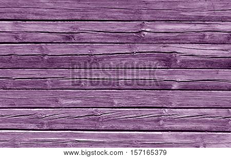Weathered Magenta Color Log House Wall.