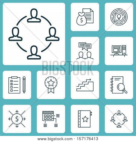 Set Of Project Management Icons On Growth, Schedule And Warranty Topics. Editable Vector Illustratio
