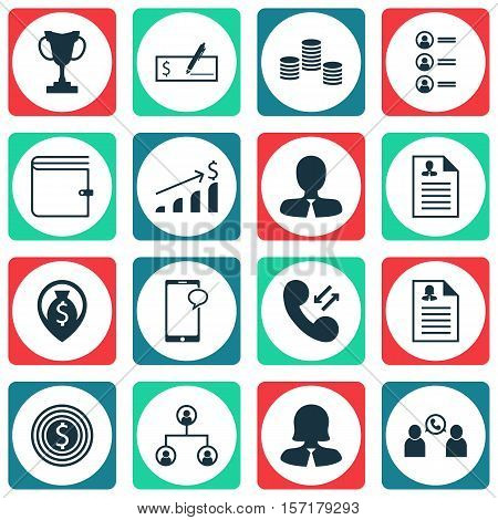 Set Of Hr Icons On Bank Payment, Curriculum Vitae And Business Woman Topics. Editable Vector Illustr