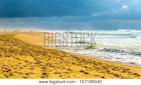 Beach on the Atlantic Ocean near Seignosse - France, Aquitaine